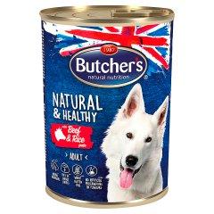 Butcher's Natural & Healthy Karma dla dorosłych psów pasztet z wołowiną i ryżem 390 g