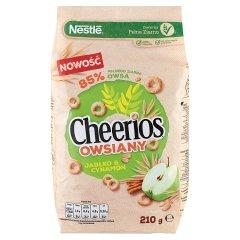Nestlé Cheerios Owsiany Płatki śniadaniowe jabłko & cynamon 210 g