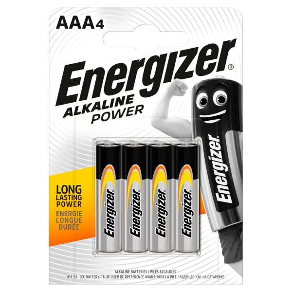Energizer Alkaline Power AAA-LR03 1,5 V Baterie alkaliczne 4 sztuki
