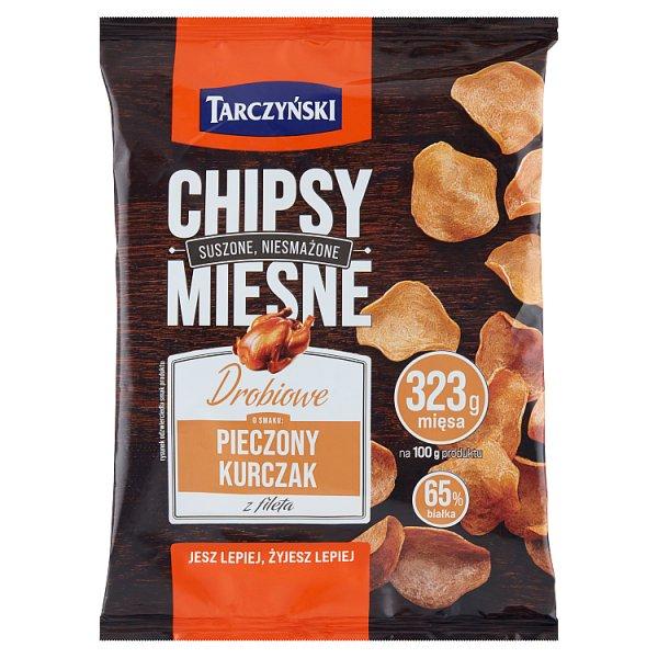 Tarczyński Chipsy mięsne drobiowe o smaku pieczony kurczak z fileta 25 g