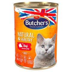 Butcher's Natural&Healthy Karma dla dorosłych kotów kawałki w galaretce z wołowiną 400 g