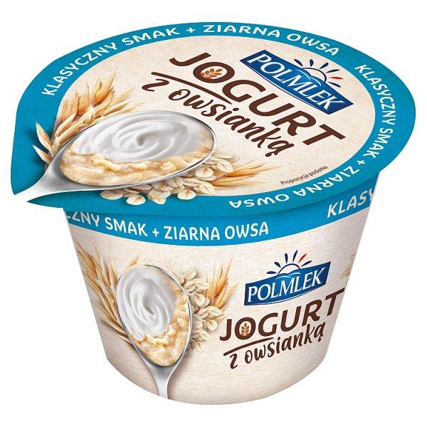 Polmlek Jogurt z owsianką klasyczny smak + ziarna owsa 180 g