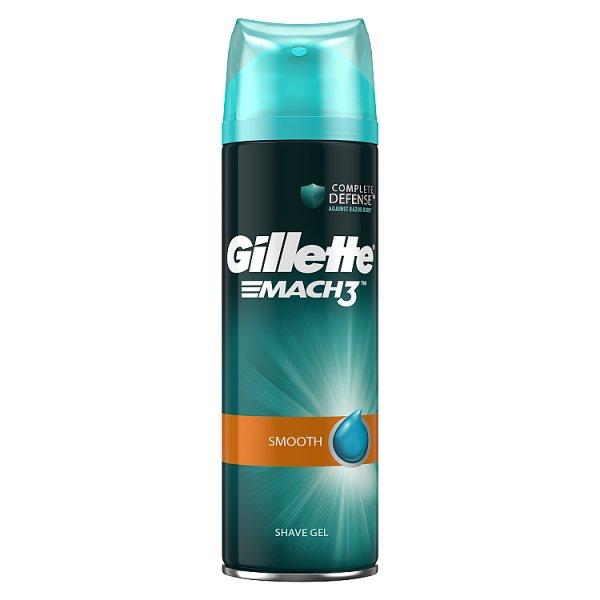 Gillette Mach3 Smooth Żel do golenia dla mężczyzn 200ml