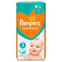 Pampers Sleep&Play, rozmiar3, 58pieluszek, 6–10kg