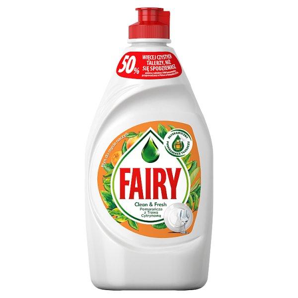 Fairy Clean & Fresh Pomarańcza z Trawą Cytrynową Płyn do mycia naczyń 450ml