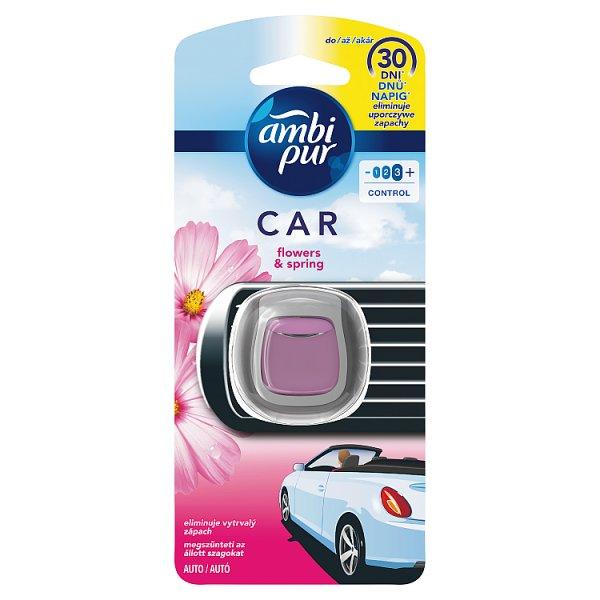 Ambi Pur Car Flowers & Spring Zestaw startowy samochodowego odświeżacza powietrza, 1 sztuka