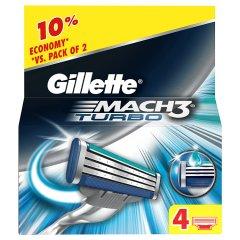 Wkłady Gillette Mach3 Turbo /4szt.