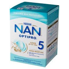 NAN OPTIPRO 5 Mleko modyfikowane w proszku dla dzieci po 2,5 roku 800 g (2 x 400 g)