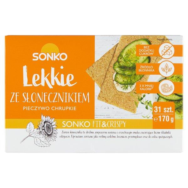 Sonko Pieczywo chrupkie Lekkie ze słonecznikiem 170 g (31 sztuk)
