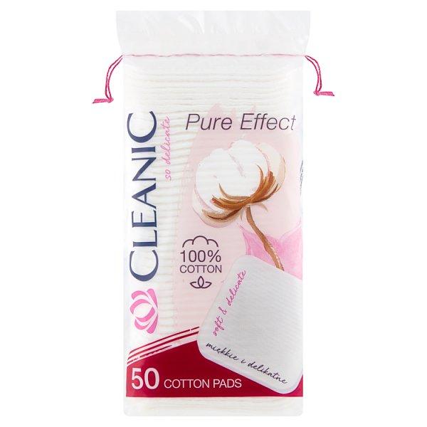 Cleanic Pure Effect Płatki kosmetyczne kwadratowe 50 sztuk