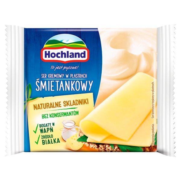 Hochland Ser kremowy śmietankowy w plastrach 130 g