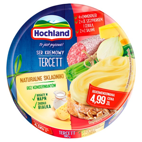 Hochland Ser kremowy tercett w trójkącikach 180 g