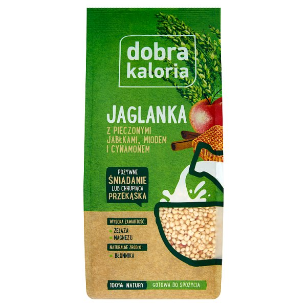 Dobra Kaloria Jaglanka z pieczonymi jabłkami miodem i cynamonem 120 g