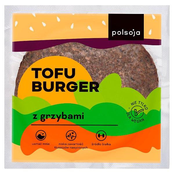 Polsoja Tofu burger z grzybami 100 g