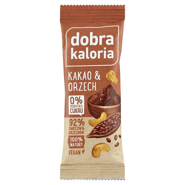 Dobra Kaloria Baton owocowy kakao & orzech 35 g