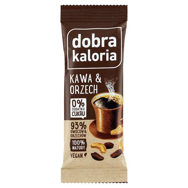 Dobra Kaloria Baton owocowy kawa & orzech 35 g