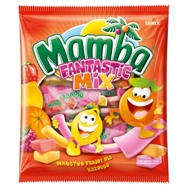 Mamba Fantastic Mix Gumy rozpuszczalne o smakach owocowych 150 g