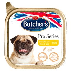 Butcher's Pro Series Light Karma dla psów dorosłych pasztet z kurczakiem ryżem i warzywami 150 g