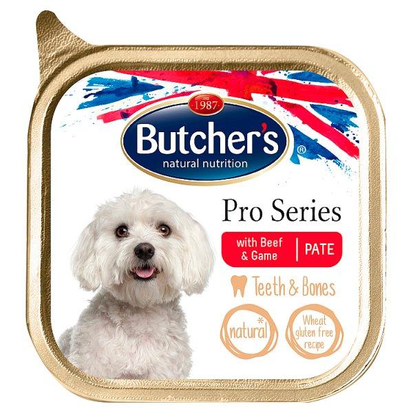 Butcher's Pro Series Karma dla dorosłych psów pasztet z wołowiną i dziczyzną 150 g