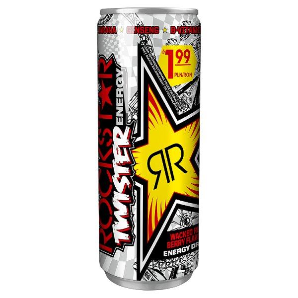 Rockstar Gazowany napój energetyzujący o smaku czerwonych owoców jagodowych 250 ml