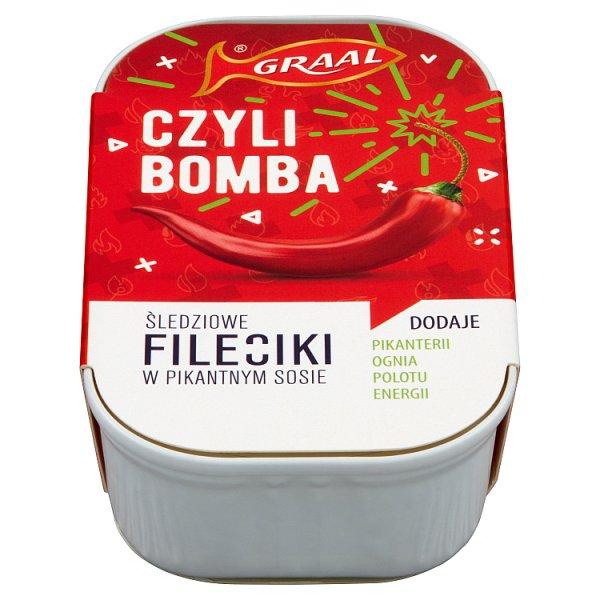 Graal Fileciki śledziowe w pikantnym sosie 110 g