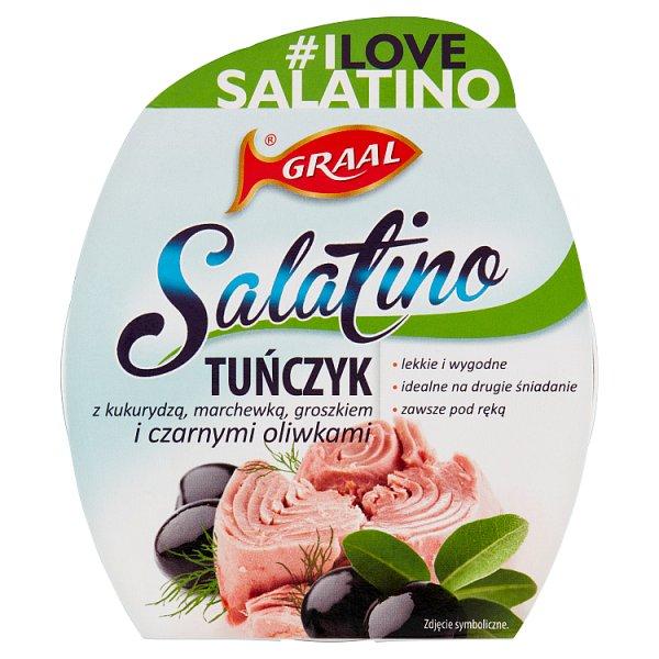 GRAAL Salatino Tuńczyk z kukurydzą marchewką groszkiem i czarnymi oliwkami 160 g