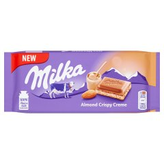 Milka Czekolada mleczna Almond Crispy Creme 90 g