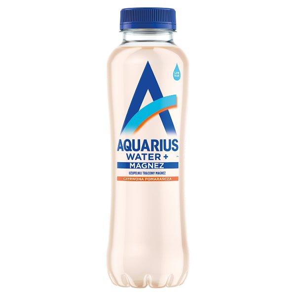 Aquarius Water+ Napój niegazowany czerwona pomarańcza 400 ml