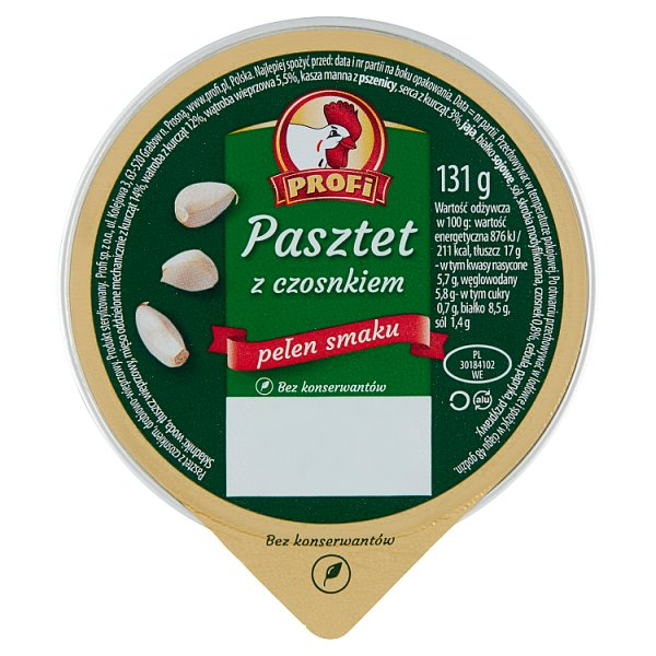 Profi Pasztet z czosnkiem 131 g