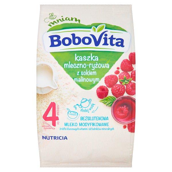 BoboVita Kaszka mleczno-ryżowa z sokiem malinowym po 4 miesiącu 230 g