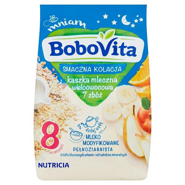 BoboVita Smaczna Kolacja Kaszka mleczna wieloowocowa 7 zbóż po 8 miesiącu 230 g