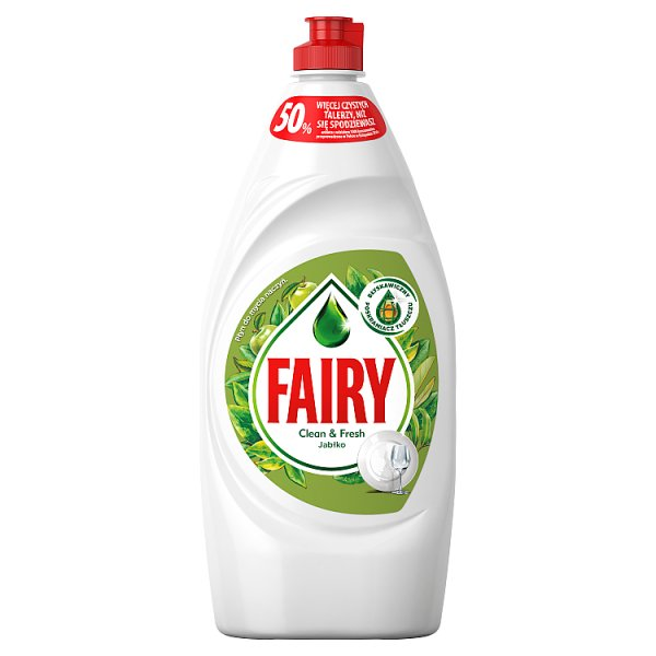 Fairy Clean & Fresh Jabłko Płyn do mycia naczyń 900 ml