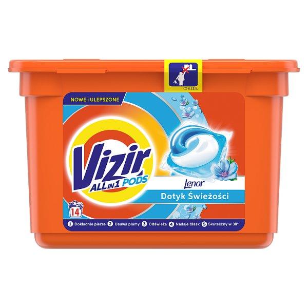 Vizir Touch Of Lenor Kapsułki do prania, działanie Allin1, 14 prań