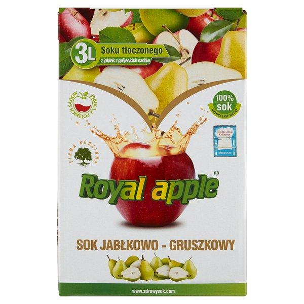 Royal apple Sok jabłkowo-gruszkowy 3 l