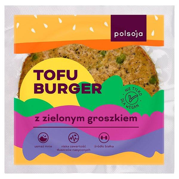 Polsoja Tofu burger z zielonym groszkiem 100 g