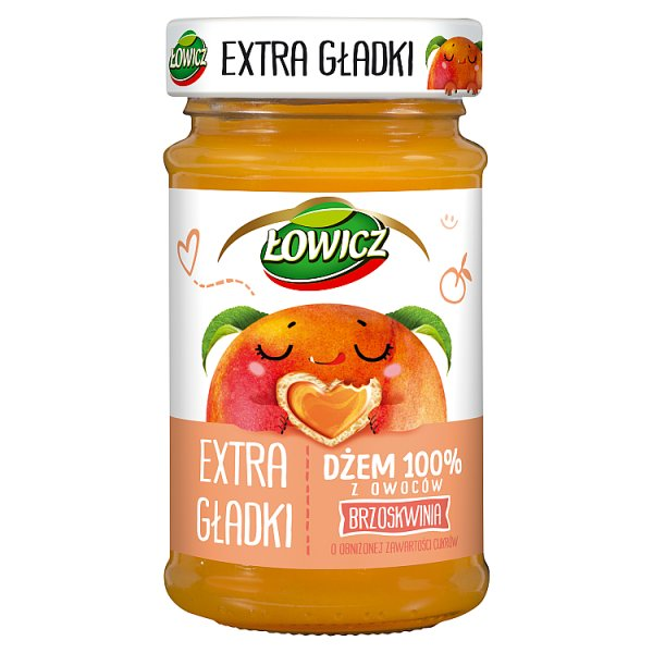 Łowicz Dżem 100% z owoców extra gładki brzoskwinia 235 g