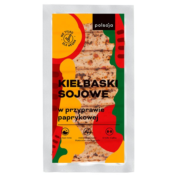 Polsoja Kiełbaski sojowe w przyprawie paprykowej180 g