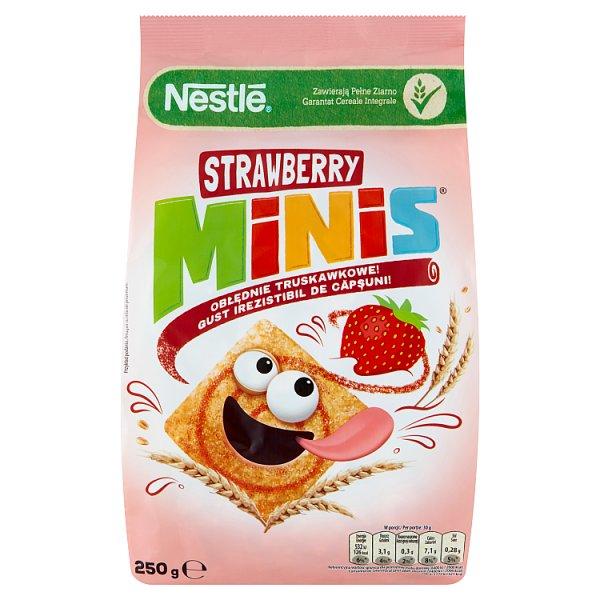 Nestlé Strawberry Minis Płatki śniadaniowe 250 g