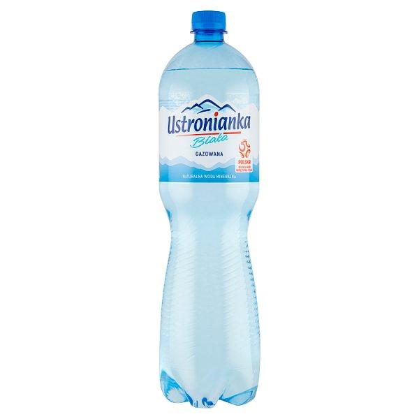 Ustronianka Biała Naturalna woda mineralna gazowana 1,5 l