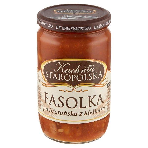 Kuchnia Staropolska Fasolka po bretońsku z kiełbasą 700 g