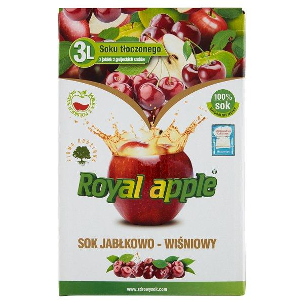 Royal apple Sok jabłkowo-wiśniowy 3 l
