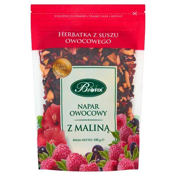 Bifix Napar owocowy z maliną Herbatka z suszu owocowego 100 g