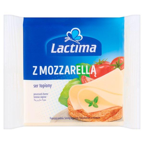 Lactima Ser topiony w plasterkach z Mozzarellą 130 g (8 x 16,25 g)