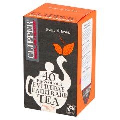 Clipper Everyday Fairtrade Herbata czarna 125 g (40 torebek)