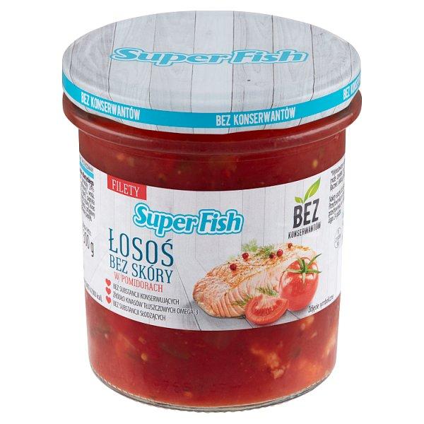 SuperFish Łosoś bez skóry w pomidorach 300 g