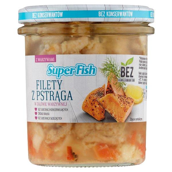 SuperFish Filety z pstrąga w zalewie warzywnej 300 g