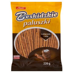 Aksam Beskidzkie Paluszki z pieprzem i solą 220 g