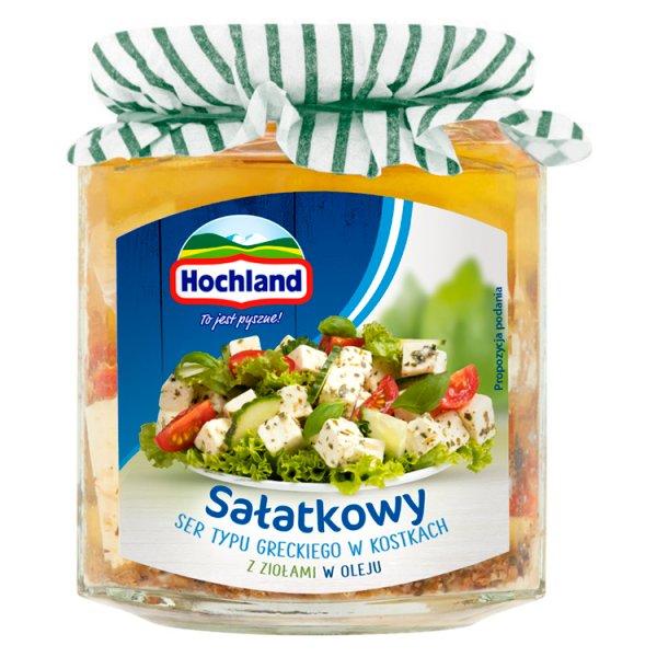 Hochland Sałatkowy ser typu greckiego w kostkach z ziołami w oleju 300 g