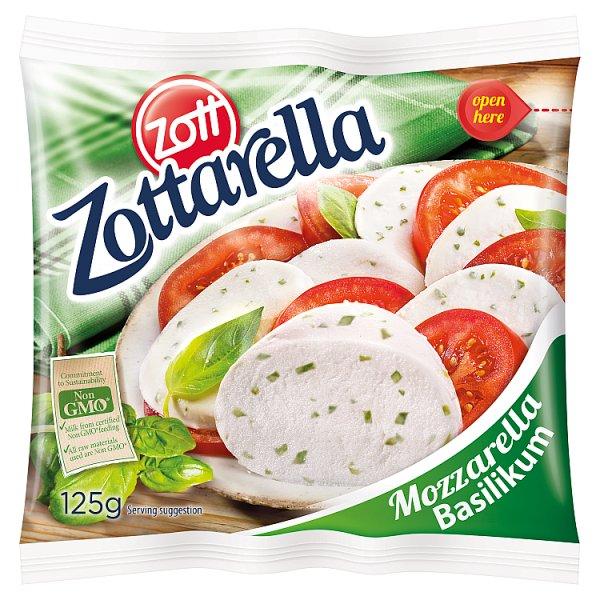 Zott Zottarella Ser mozzarella z bazylią 125 g