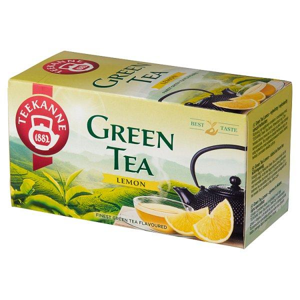 Teekanne Green Tea Lemon Aromatyzowana herbata zielona 35 g (20 x 1,75 g)